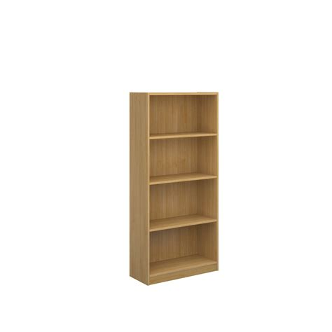Office Furniture Bookcases Shelves Economy Bookcase 1620mm High With 3 Shelves Oak Www
