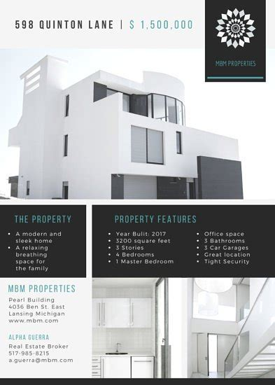 modern house real estate luxurious house real estate flyer templates by canva