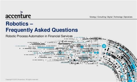 Accenture Robotic Process Automation In Financial Services Faq Robotic Process Automation Assessment Template