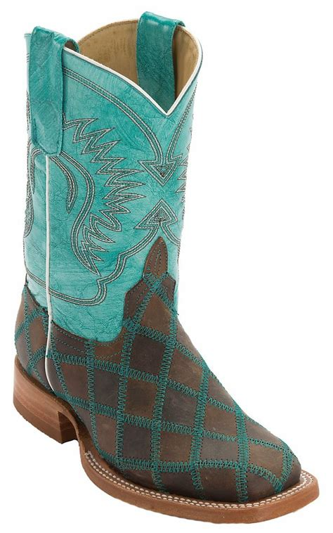 light tan cowboy boots anderson bean 174 kids light brown dark brown patchwork