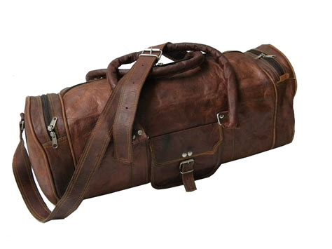 Handmade Leather Luggage - 20 inch handmade goat leather travel bag genuine duffle