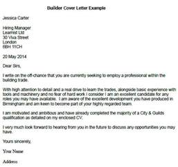 builder cover letter example learnist org