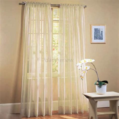 colored sheer curtains door room voile window curtain sheer panel drapes scarfs