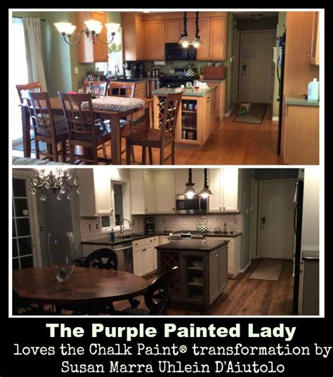 Kitchen Cabinets Chalk Paint Are Your Kitchen Cabinets Dated Before After Photos The Purple Painted
