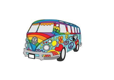 hippie volkswagen drawing image gallery hippie van designs