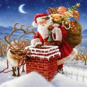 santa enters house through chimney placing secret gifts