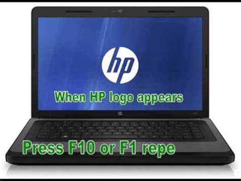 resetting hp notebook password how to reset your hp laptop password youtube