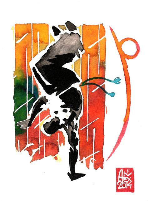 capoeira illustration by alex illustrateur encres capoeira 582 capoeira watercolor