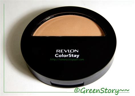 Revlon Colorstay Powder greenstory review revlon colorstay pressed powder