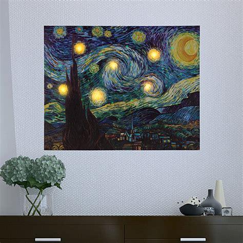 buy lighted wall art canvas  timer van gogh starry