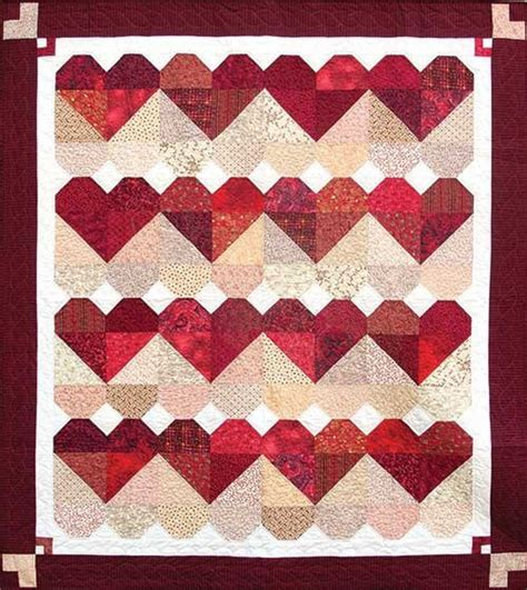 pattern for heart quilt blended hearts quilt pattern keepsake quilting