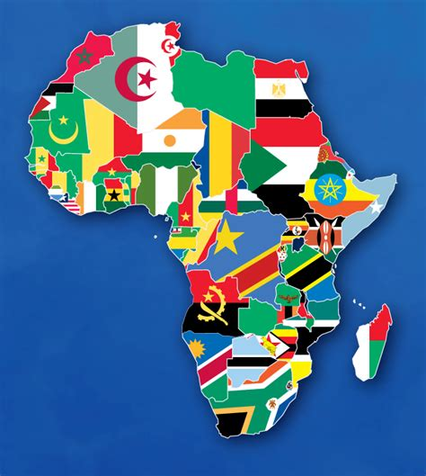 africa map flags map of flags by ajmedwards on deviantart