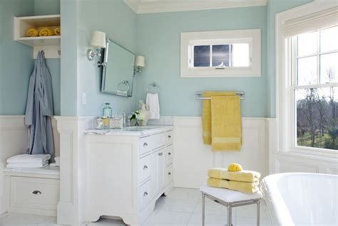 Blue Paint Bathroom by Blue Bathroom Wall Paint Transitional Bathroom