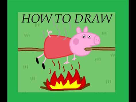 how to a to play dead how to draw quot peppa pig quot dead como dibujar quot peppa pig quot muerta