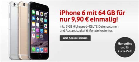 vodafone deal iphone  gb mit vertrag fuer  euro