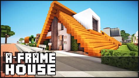 Small House Cabin by Minecraft Small A Frame House Youtube