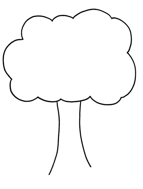 template of tree tree outline drawing drawing library