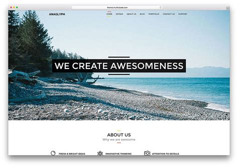 one page parallax wordpress themes for modern website