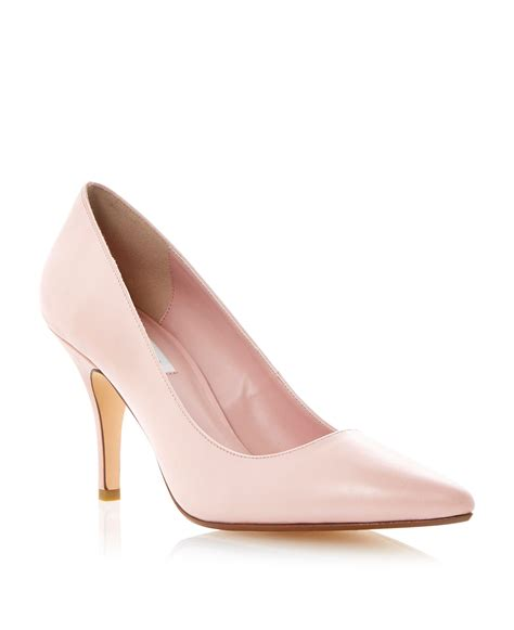 dune appoint court shoes in pink lyst