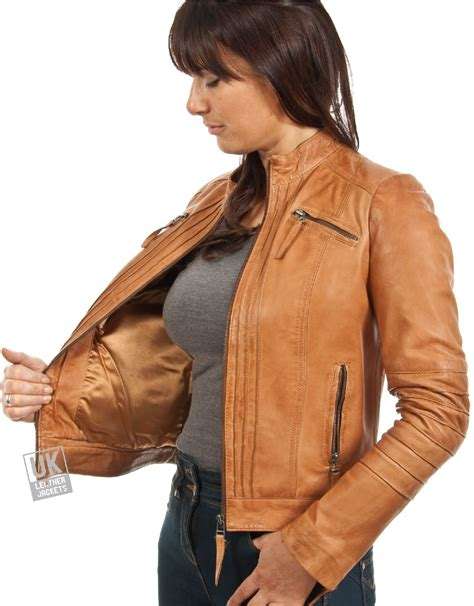 light brown tops for women ladies light brown leather jacket www pixshark com