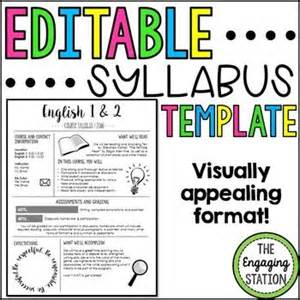 Class Syllabus Template Middle School by Best 25 Syllabus Template Ideas On Class