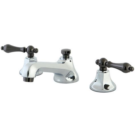 brass and chrome bathroom faucets kingston brass kate 8 in widespread 2 handle lever