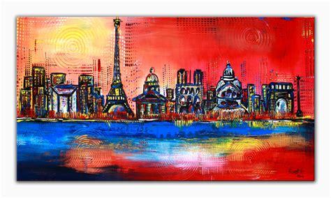 malerei modern skyline bild kunst alex b bei kunstnet