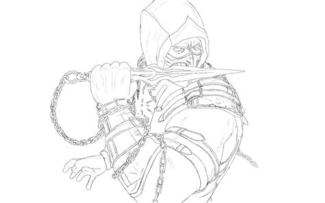 how to draw scorpion from mortal kombat x easy things to scorpion mortal kombat x by confinez555 on deviantart