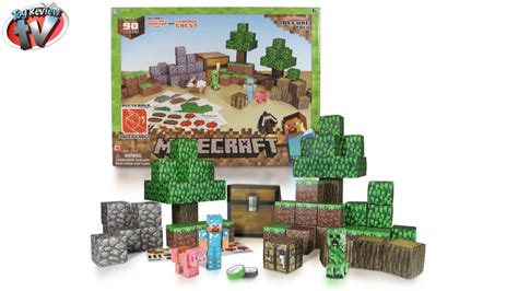 Minecraft Papercraft Toys R Us - minecraft overworld deluxe pack papercraft review