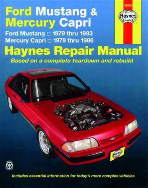 car maintenance manuals 1991 ford mustang auto manual haynes ford mustang repair manual
