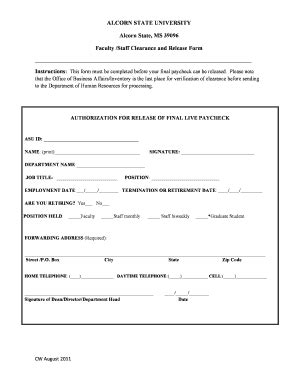 clearance form clearance form fill printable fillable blank