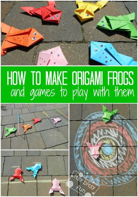How To Make Origami Frogs - best 25 juegos de ranas ideas on arte de rana