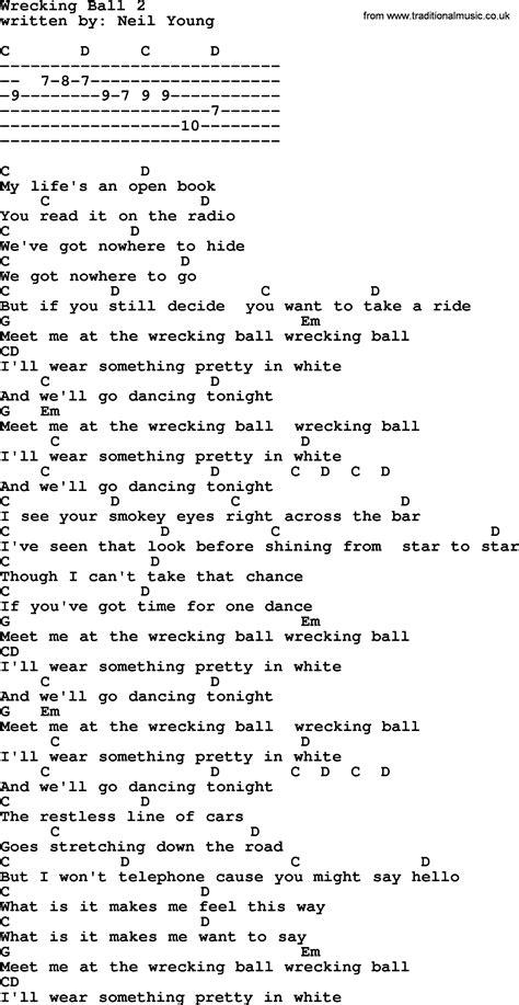 Wrecking Ball Guitar Chords