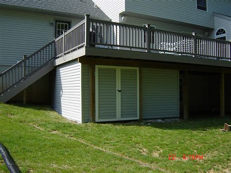 Deck Storage Shed by Lovely Shed Deck 5 Deck Storage Shed