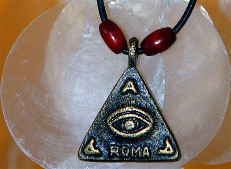 Anting Anting Black Magnet eye of god talisman amulet pendant medallion medal anting
