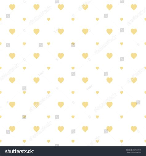 yellow heart pattern yellow seamless heart pattern stock vector 407838517