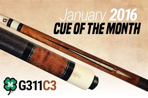 mcdermott announces free cue giveaway for january 2016 billiard greg forever - Mcdermott Cue Giveaway