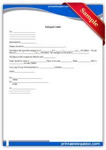 free printable estoppel letter form generic