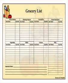Basic Pantry List by 44 List Templates In Pdf