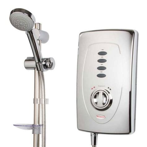 Electric Showers Redring Slimline 650 8 5kw Chrome Electric Shower