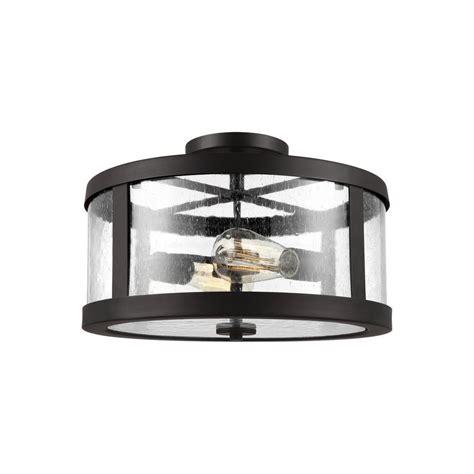 bronze semi flush mount light feiss harrow 2 light rubbed bronze semi flushmount