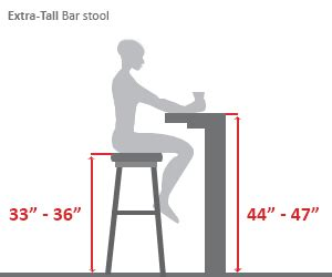 what height bar stool do i need extra tall bar height bar stool diagram design