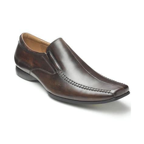 steve madden carano slipon dress shoes in black for lyst