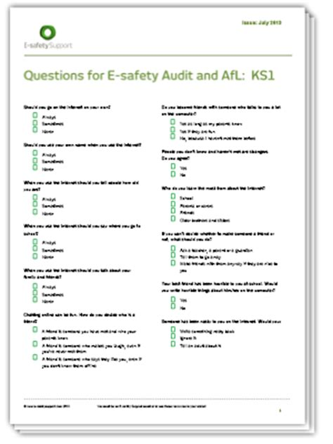 E Safety Support School Resources Premium Free And Premium Resources E Learning Questionnaire Template
