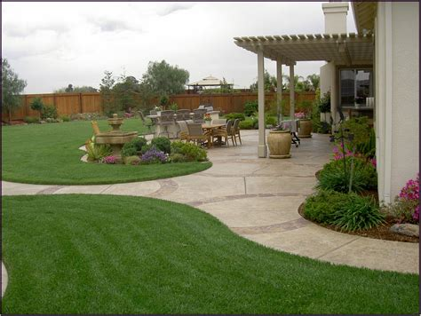 ideas for landscaping backyard create simple back garden ideas in your back yard