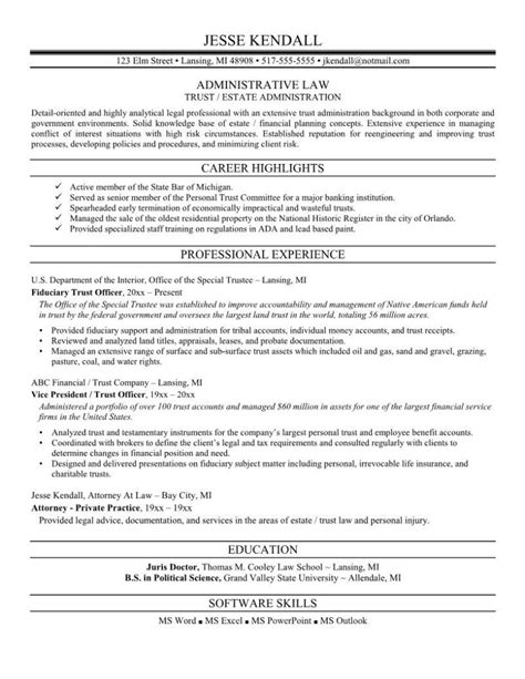 attorney resume sles template learnhowtoloseweight net