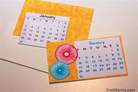 how to make handmade calendar as seen on tv easy handmade calendar projects