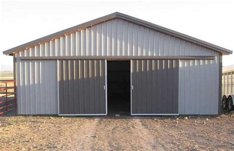 Dahkero Pole Barn Kit Plans Pole Barn Sliding Doors