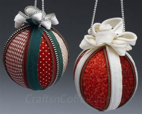 fabric covered styrofoam ball ornaments 14 of the best zipper crafts and crafters