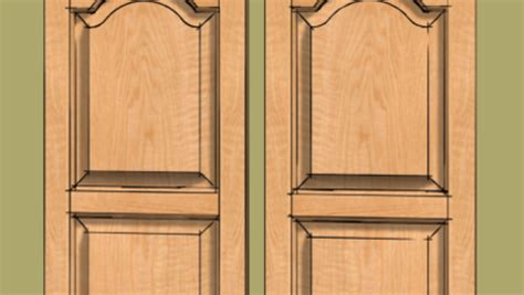 raised panel door   cathedral panel finewoodworking